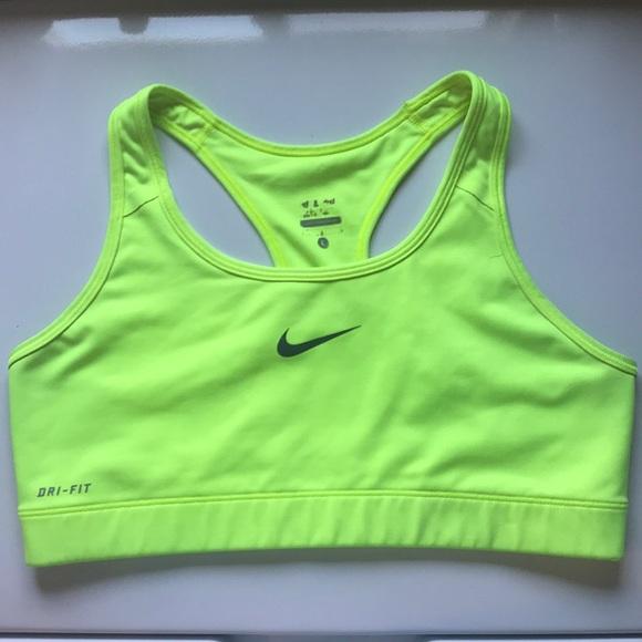 da948c434ea64 NIKE Neon Green   Yellow Volt Dri-fit Sports Bra. M 5b475c576a0bb71a63920760